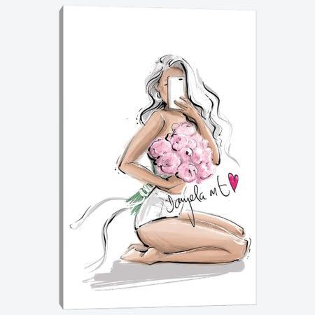 Flower Babe Canvas Print #DPV15} by Daniela Pavlíková Canvas Artwork