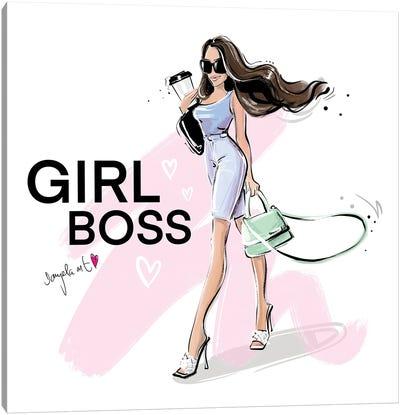Girl Boss Canvas Art Print