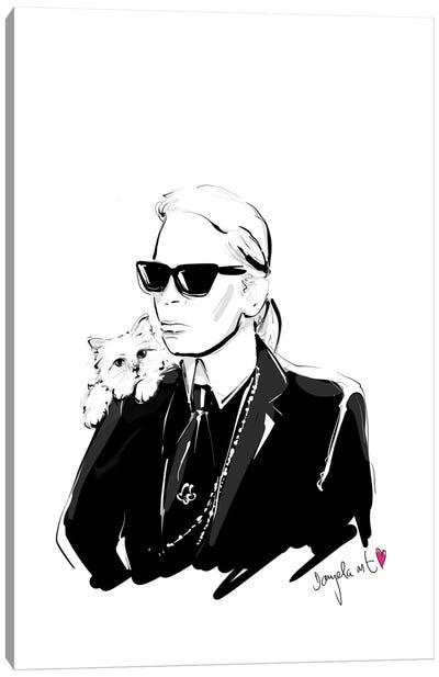 Karl Lagerfeld Canvas Art Print