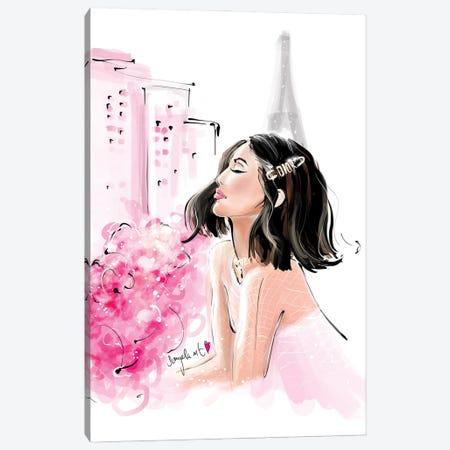 Peonie And Paris Canvas Print #DPV27} by Daniela Pavlíková Art Print