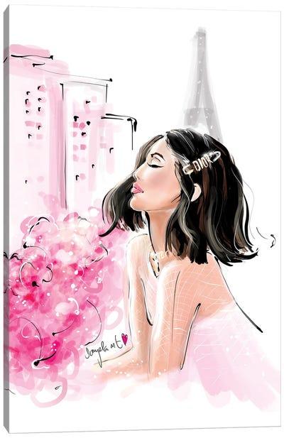 Peonie And Paris Canvas Art Print