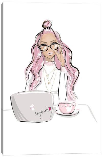 Pink Boss Canvas Art Print