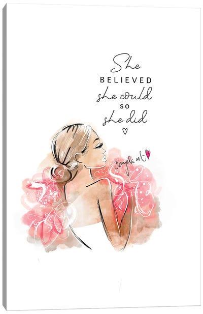 She Believed II Canvas Art Print