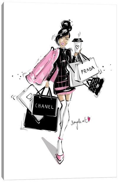 Shopping Girl Canvas Art Print