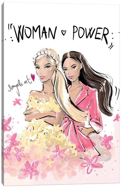 Woman Power Text Canvas Art Print
