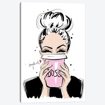 Boss Coffee Canvas Print #DPV4} by Daniela Pavlíková Canvas Wall Art