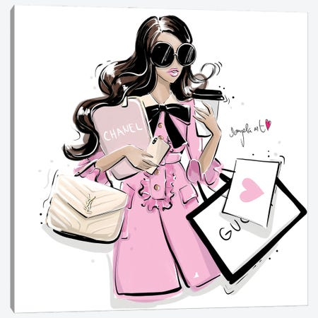 Busy Girl Canvas Print #DPV6} by Daniela Pavlíková Canvas Art
