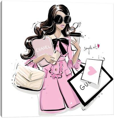 Busy Girl Canvas Art Print