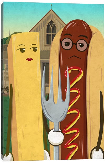 American Gotdog and French Fry Canvas Art Print