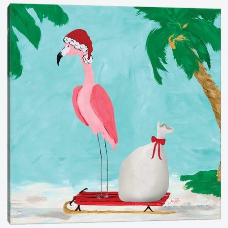 Fa La La La Flamingo Holiday II 3-Piece Canvas #DRC104} by Julie Derice Art Print
