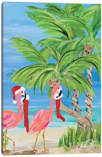 Flamingo Christmas I Canvas Art Print
