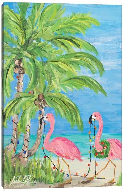 Flamingo Christmas II Canvas Art Print