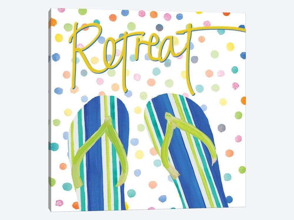 Flip Flop Retreat I by Julie Derice 1-piece Canvas Art