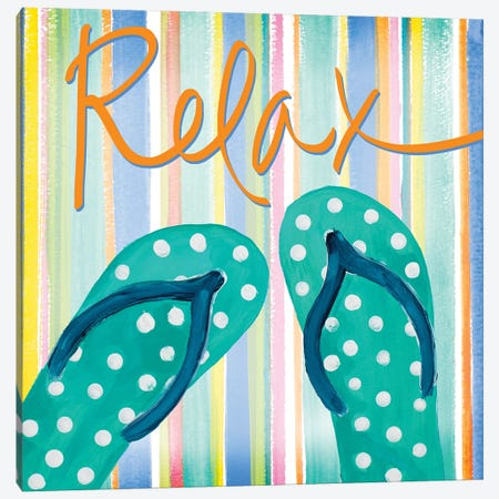 Flip Flop Retreat III Canvas Print #DRC108} by Julie Derice Canvas Art