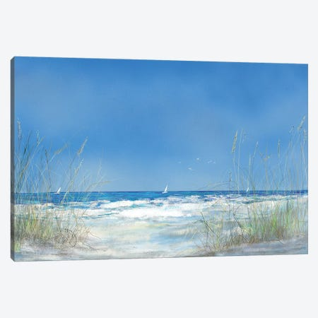 Grassy Seascape 3-Piece Canvas #DRC113} by Julie Derice Canvas Print