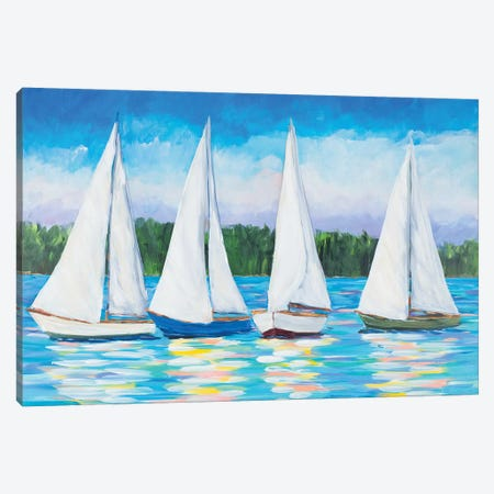 Great Sails I Canvas Print #DRC114} by Julie Derice Canvas Art