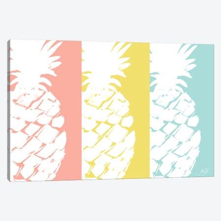 Modern Pineapple Trio Canvas Print #DRC124} by Julie Derice Art Print