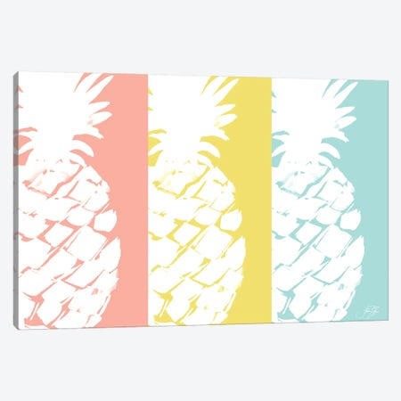 Modern Pineapple Trio Canvas Print #DRC124} by Julie Derice Art Print