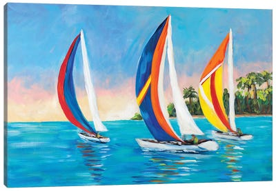 Morning Sails I Canvas Art Print