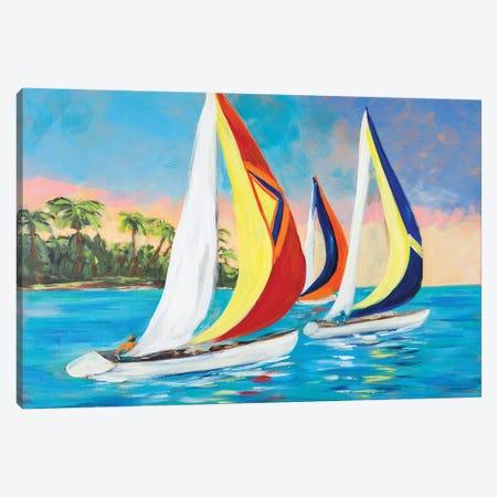 Morning Sails II Canvas Print #DRC126} by Julie Derice Canvas Art Print