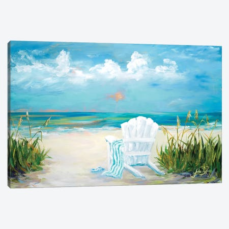Beach Scene II 3-Piece Canvas #DRC12} by Julie Derice Canvas Art Print