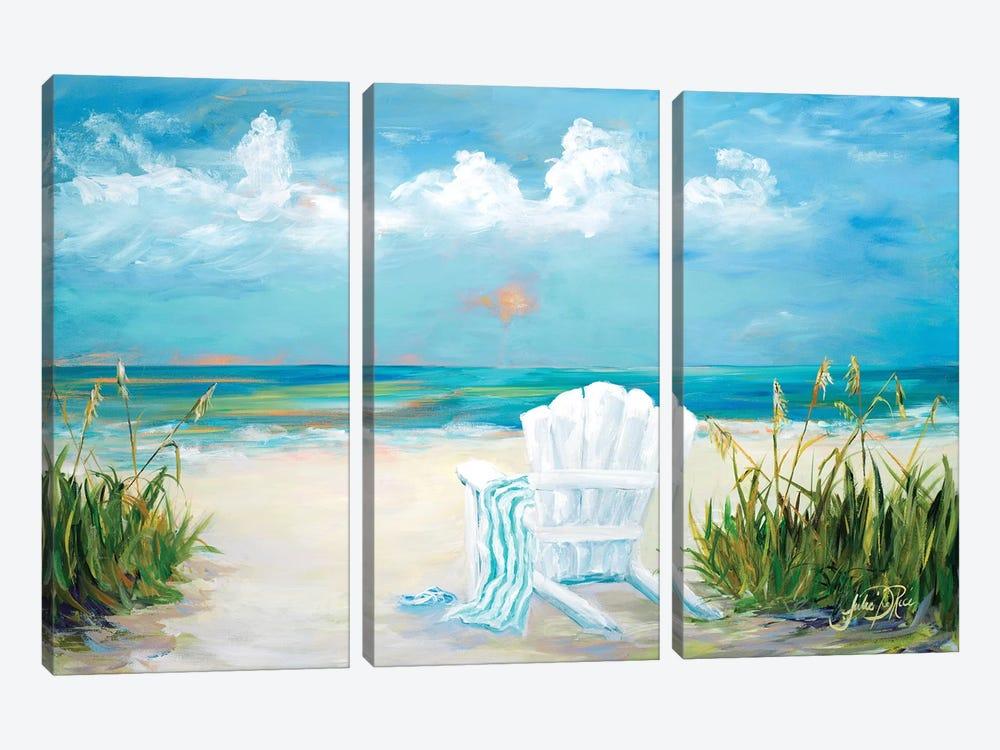 Beach Scene II by Julie Derice 3-piece Canvas Artwork