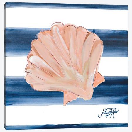 Nautical Shell III Canvas Print #DRC130} by Julie Derice Canvas Art Print