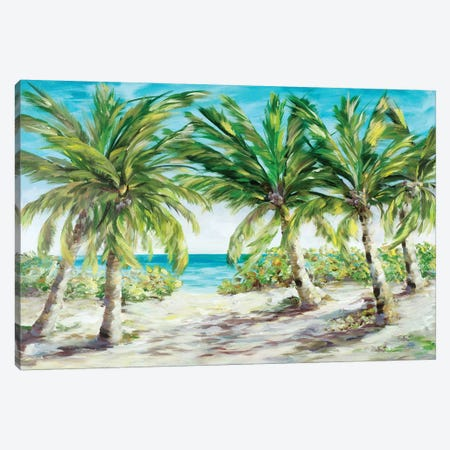 Palm Escape Canvas Print #DRC136} by Julie Derice Canvas Wall Art