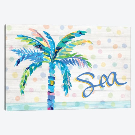Palm Tree Near The Sea Canvas Print #DRC137} by Julie Derice Canvas Artwork