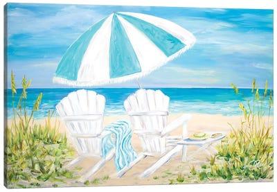 Beach Umbrella Canvas Art Print