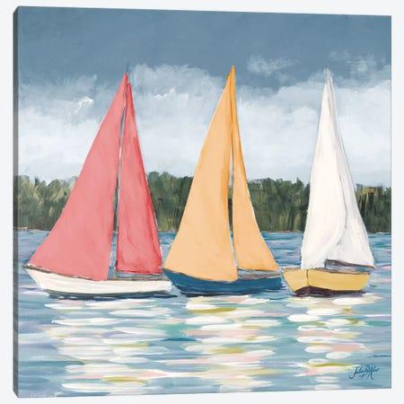 Soft Pastel Sails Canvas Print #DRC157} by Julie Derice Canvas Artwork