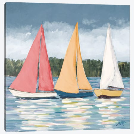 Soft Pastel Sails Canvas Print #DRC157} by Julie Derice Canvas Artwork