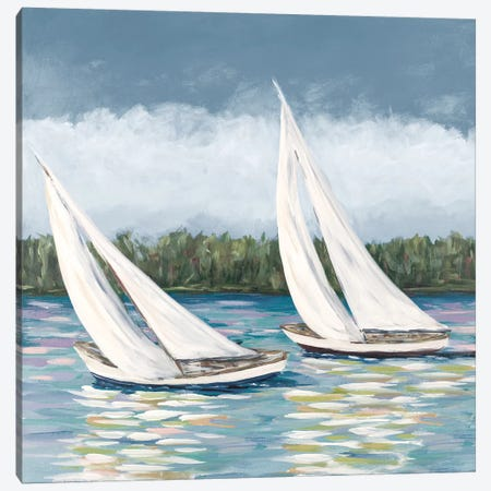Soft Sails II Canvas Print #DRC159} by Julie Derice Canvas Print