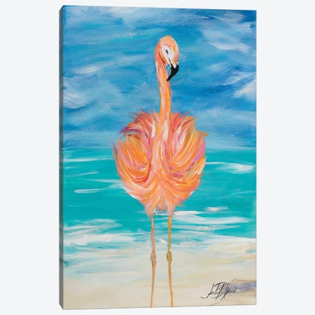 Flamingo I Canvas Print #DRC15} by Julie Derice Canvas Art