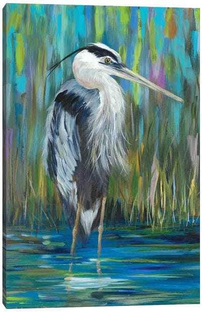 Standing Heron I Canvas Art Print