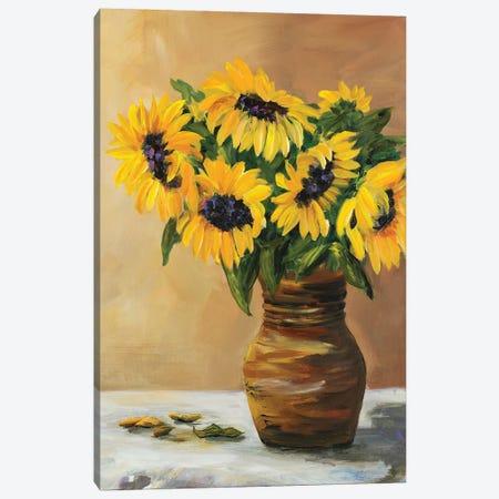 Sunflowers Canvas Print #DRC162} by Julie Derice Canvas Artwork