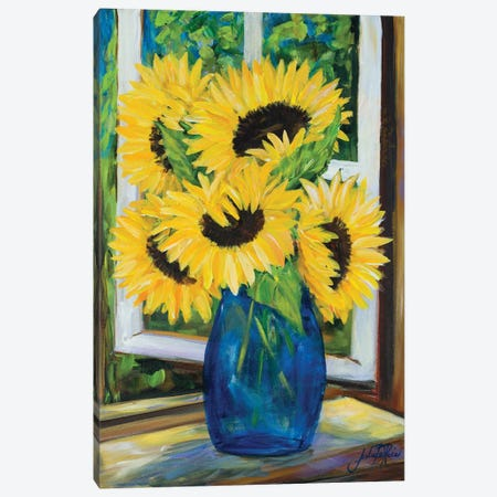 Sunflowers Canvas Print #DRC163} by Julie Derice Canvas Art
