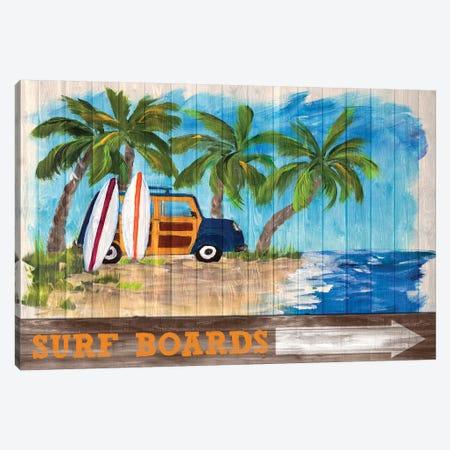 Surf Boards Canvas Print #DRC164} by Julie Derice Canvas Art Print