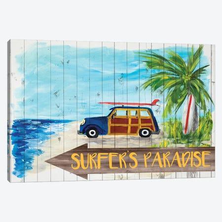 Surfer's Paradise Canvas Print #DRC166} by Julie Derice Art Print