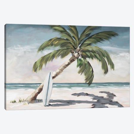 Surfing Paradise Canvas Print #DRC167} by Julie Derice Art Print
