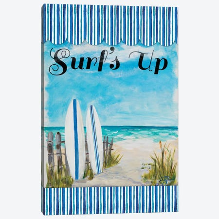 Surf's Up Canvas Print #DRC168} by Julie Derice Canvas Wall Art