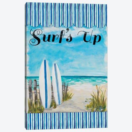 Surf's Up Canvas Print #DRC168} by Julie Derice Canvas Wall Art