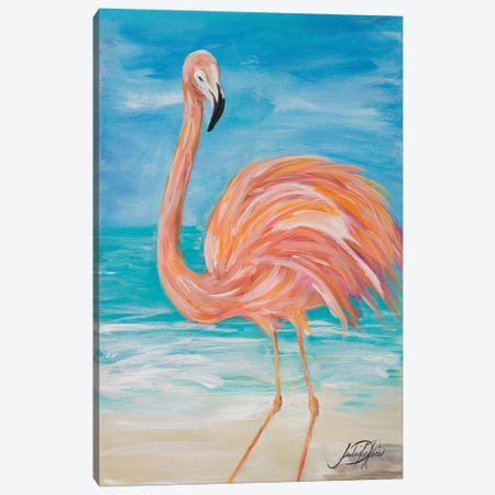 Flamingo II Canvas Print #DRC16} by Julie Derice Canvas Artwork