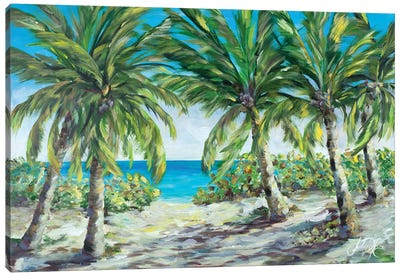 Tropical Palm Tree Paradise Canvas Art Print