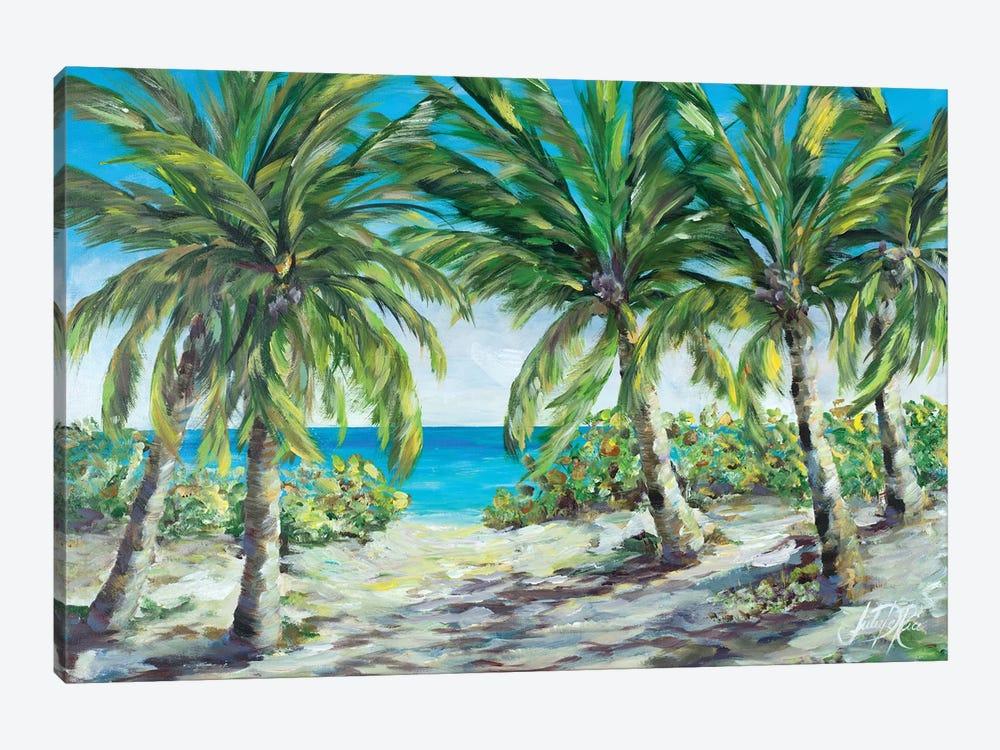 Tropical Palm Tree Paradise by Julie Derice 1-piece Canvas Artwork