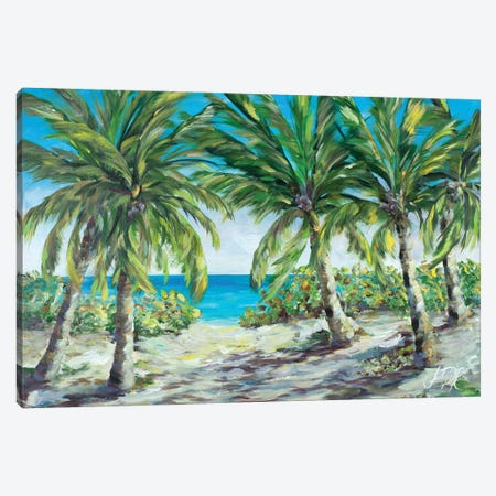Tropical Palm Tree Paradise Canvas Print #DRC176} by Julie Derice Canvas Artwork