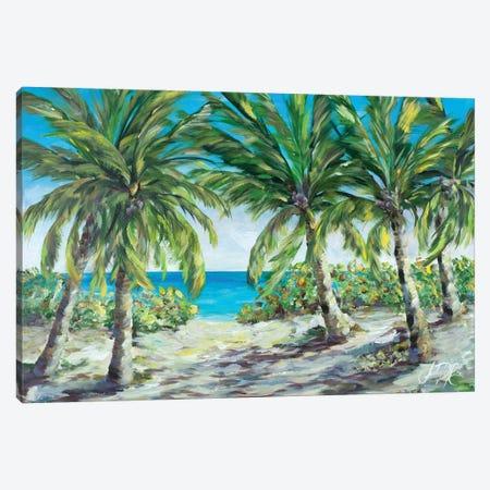 Tropical Palm Tree Paradise Canvas Print #DRC176} by Julie Derice Canvas Artwork