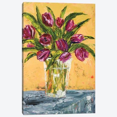 Tulips Canvas Print #DRC180} by Julie Derice Canvas Artwork