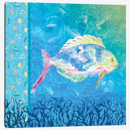 Under The Sea I Canvas Print #DRC182} by Julie Derice Canvas Art