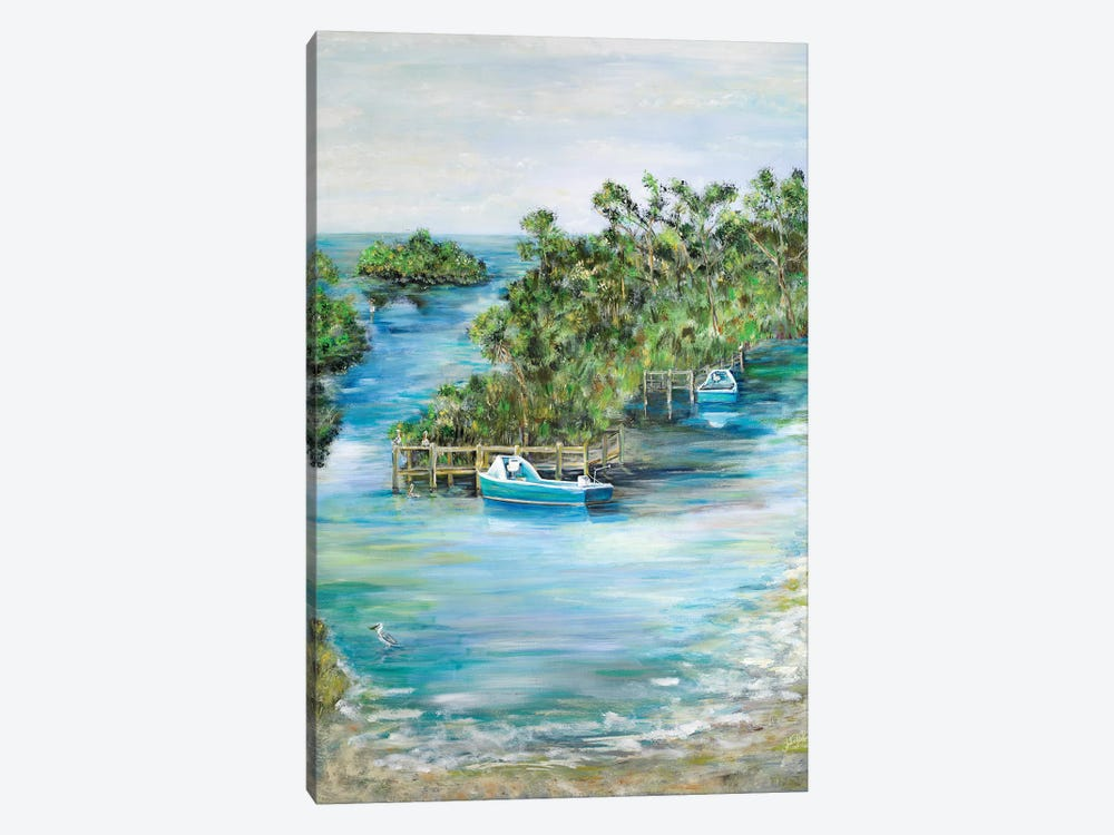 Florida Scene by Julie Derice 1-piece Canvas Art